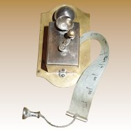 Crank Wall Telephone  - Sewing Tape Measure