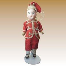 Antique Dollhouse Bisque Doll - Boy in Military School Uniform
