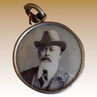 Souvenir Memento Mori of King Edward VII of England Pendant Fob Charm
