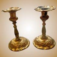 Antique Dollhouse Erhard and Sohne Ormolu Candlesticks