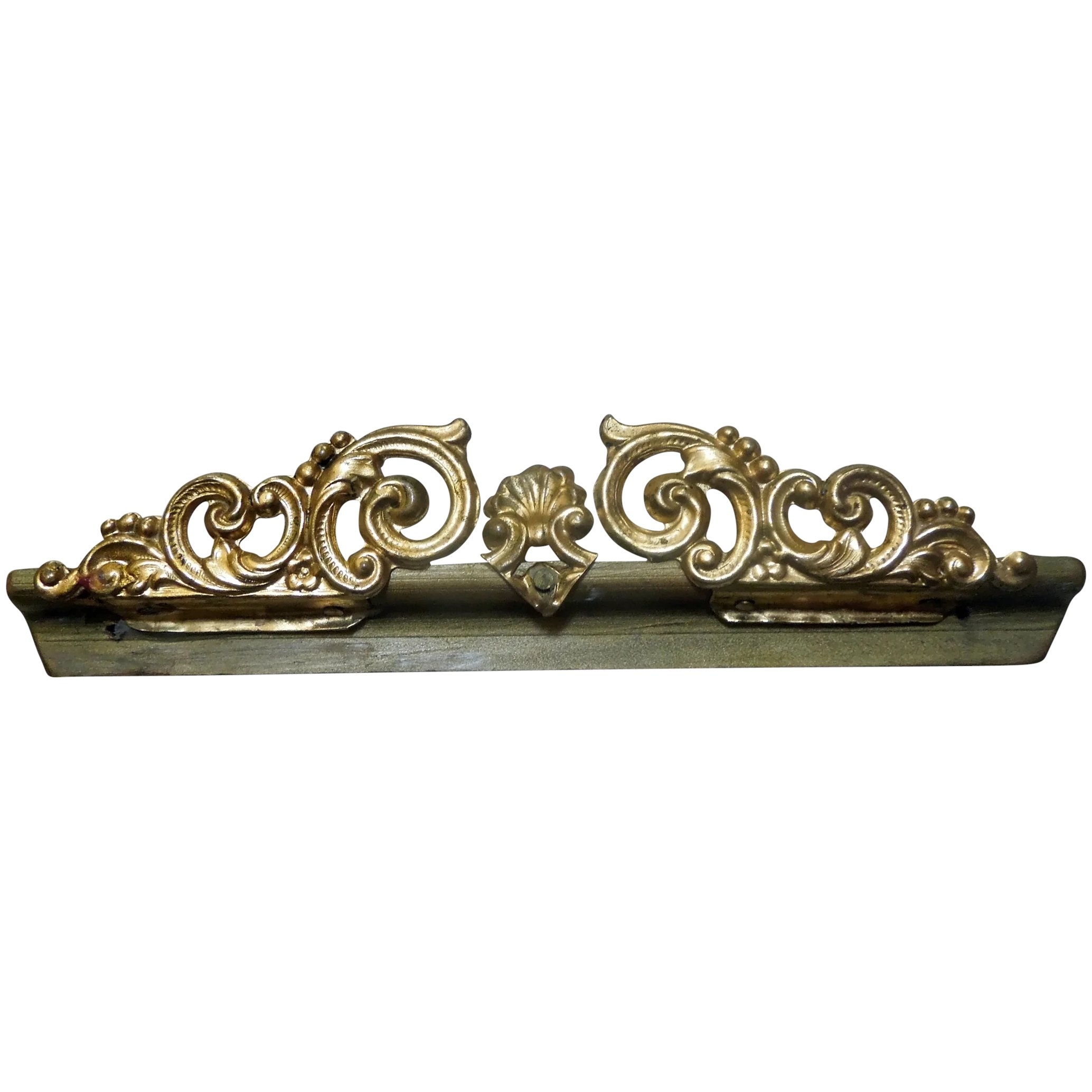 GOLD DOLLHOUSE CURTAINS HOLDERS