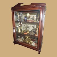Vintage Miniature or Dollhouse Mahogany Cabinet of Miniature Scientific Objects