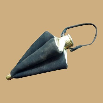 Vintage Small Umbrella French Fashion Purse - Leather Suede