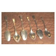"Six Rogers Bros. Demitasse Spoons ""Adoration"" Pattern"