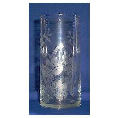 Crystal Cylinder Vase By Pasabahee of Turkey