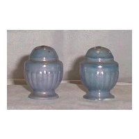 Blue Luster Salt And Pepper Shakers