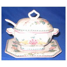 Hand Painted Sauce Tureen Made In Portugal