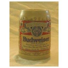 Budweiser Label Stein  From 1989 by Ceramarte