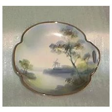 Handpainted Noritake Porcelain Dish