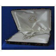 Love-Lite Silver Tone And Rhinestone Set In Original Case