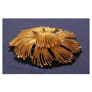 Monet Gold Tone Round Pin