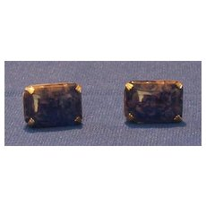 """Swank"" Blue Stone Cuff Links"