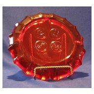 Fostoria Ruby Coin Ashtray