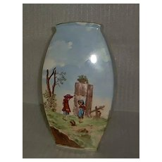 Early German Handpainted Vase