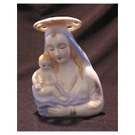 Madonna And Child Pottery Planter