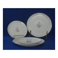 "Four Syracuse China ""Alpine"" Pattern Plates"