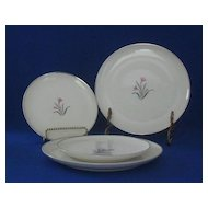 "Four Syracuse China ""Alpine"" Pattern Plates"