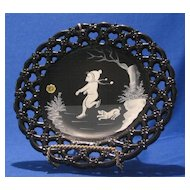 """Artist Signed """"Mary Gregory"""" Plate By Westmoreland Glass"""
