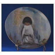 """De Grazia 1982 Plate Titled, """"Blue Boy"""" From Fairmont"""