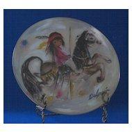 """De Grazia 1982 Plate Titled """"Merry Little Indian"""" From Fairmont"""