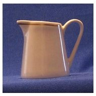 Syralite Restaurant Creamer With Gold Stripe Decoration