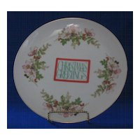 Christmas Greetings China Plate