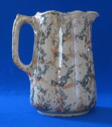Sponge Decorated Yellow Ware Pitcher A Dream Remembered