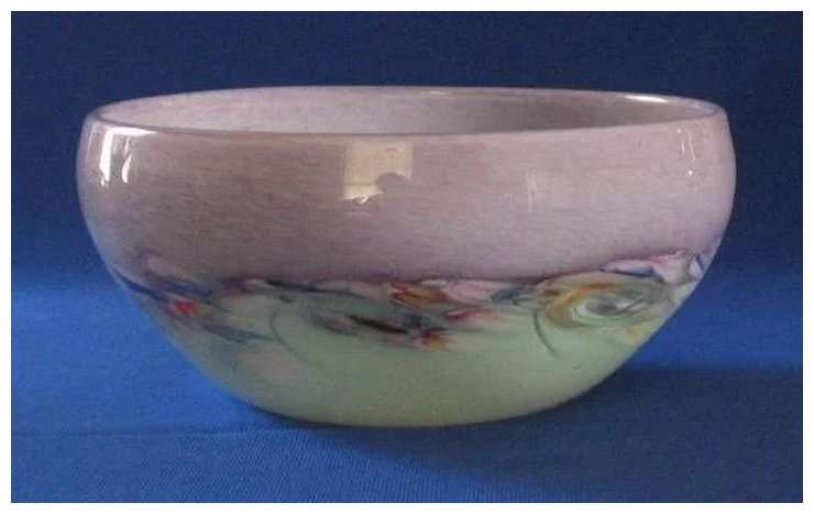 Cupped Monart Art Glass Bowl With Pontil Mark On Bottom A Dream