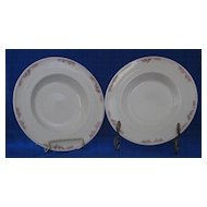 Pair Of Syracuse China Rimmed Soup Bowls
