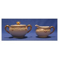 L. Bernardaud & Co. Porcelain Covered Sugar And Creamer