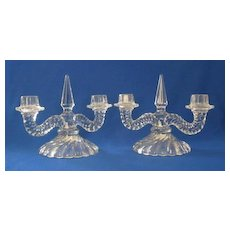 "Fostoria ""Colony"" Double Candlesticks"