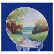"Artist Signed ""Mohawk Trail"" Plate Made In Japan"
