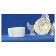 Nippon Forget Me Not Decorated Porcelain Ring Jar