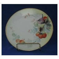 "Strawberry Decorated Artist Signed ""Parker"" Bavarian Plate"