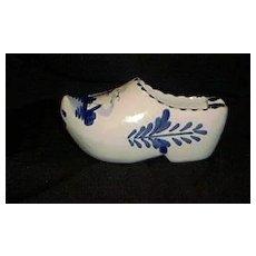 Hand Painted Royal Delft Shoe Ashtray