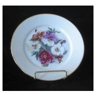 Pansy Hand Painted Artist Signed Porcelain Plate