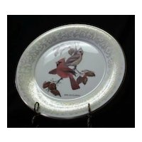"Gorham Fine China ""October Cardinals"" Collector Plate"