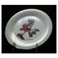"Gorham Fine China ""October Cardinals"" Collector Plate"