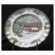 "Johnson Bros. ""The Friendly Village"" Pattern Dinner Plate"