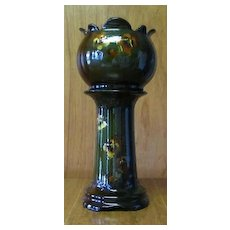 Weller Pansy Slip Decorated Jardiniere And Pedestal