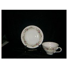 Creative China Regency Rose #2345 Cup And Saucer