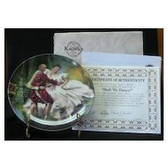"Knowles Collector Plate Titled, ""Shall We Dance"""