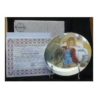 """Knowles Collector Plate Titled, """"Annie And Sandy"""""""