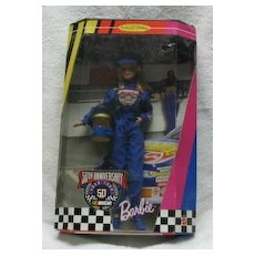 50TH Anniversary Nascar Barbie MIB