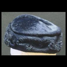 Vintage Hand Beaded Hat