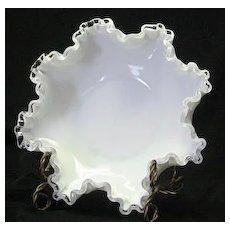 Fenton Silver Crest Double Crimped Bowl