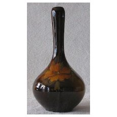 Slip Decorated Owens Pottery Standard Glaze Vase