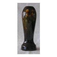 Owens Pottery Standard Glaze Slip Decorated Vase