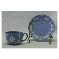 Wedgwood Jasperware Light Blue Cup And Saucer