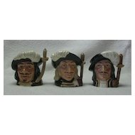 Royal Doulton Small Aramis, Athos, And Porthos Set